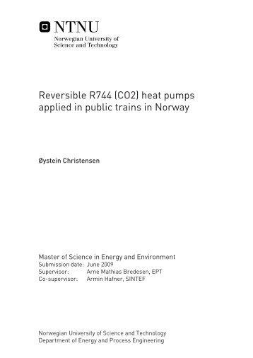 Reversible R744 (CO2) heat pumps applied in public trains ... - NTNU