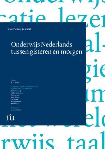 Onderwijs Nederlands tussen gisteren en morgen - Taalunieversum