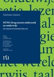 HTNO: brug tussen onderzoek en onderwijs - Taalunieversum