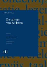 De cultuur van het lezen - Taalunieversum