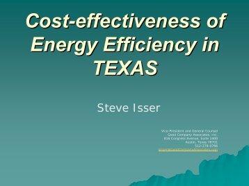 Cost-effectiveness of Energy Efficiency in TEXAS