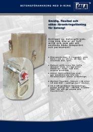 Smidig, flexibel och säker förankringslösning för betong!
