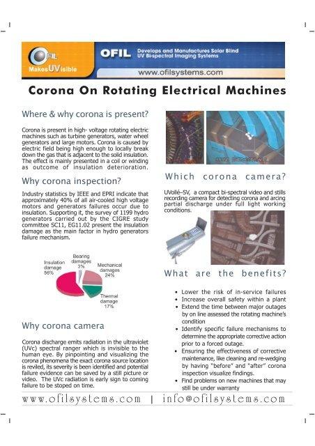 Corona on Rotating Electrical Machines FH11 - Adler Instrumentos