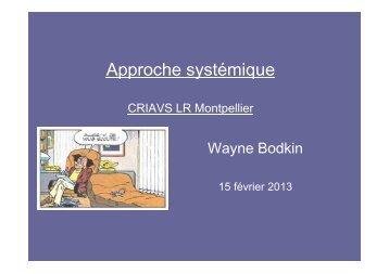 Approche systémique - CHU Montpellier