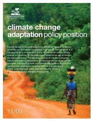 climate change adaptation policy position - Conservation International