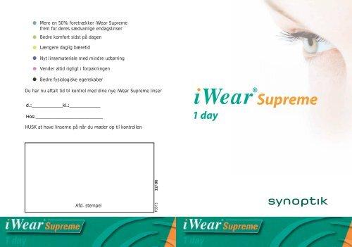 Mere en 50% foretrækker iWear Supreme frem for deres ... - DC Grafik