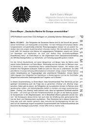 Deutsche Marine für Europa unverzichtbar - Karin Evers-Meyer