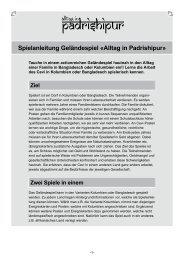 Spielanleitung Geländespiel «Alltag in Padrishipur» - Horyzon