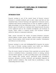 Post Graduate Diploma in Forensic Nursing Syllabus