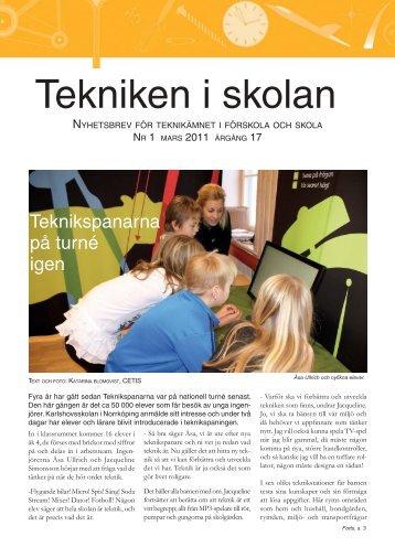 Nyhetsbrev nr 1, mars 2011 (pdf 0,7 MB, nytt fönster)
