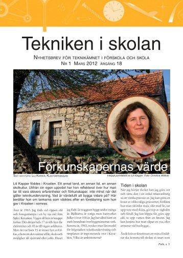 Nyhetsbrev nr 1, mars 2012 (pdf 1,2 MB, nytt fönster)