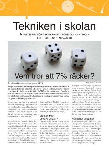 Nyhetsbrev nr 2, maj 2013 (pdf 1 MB, nytt fönster)