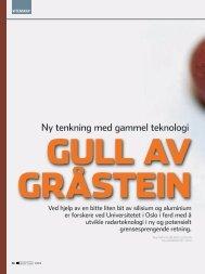 Ny tenkning med gammel teknologi - Universitetet i Oslo