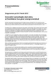 Download hele pressemeddelelsen (pdf; 222KB) - Schneider Electric