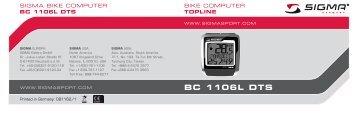 Manual BC 1106 DTS nat.fh11 - Sigma Sport