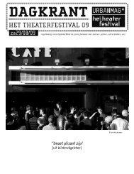 ''tmoet plizant zijn' - Het Theaterfestival
