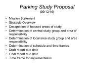 Parking Study Proposal - Town of Hull