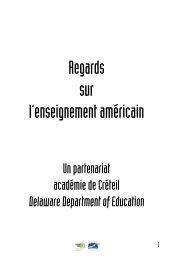 Regards sur l'enseignement américain - Académie de Créteil