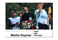 Kaymer Portrait - Das Fore Magazin