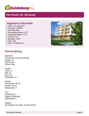 Brochure - Huis te koop
