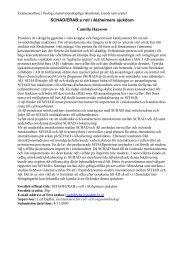 SCHAD/ERAB:s roll i Alzheimers sjukdom Camilla Hansson