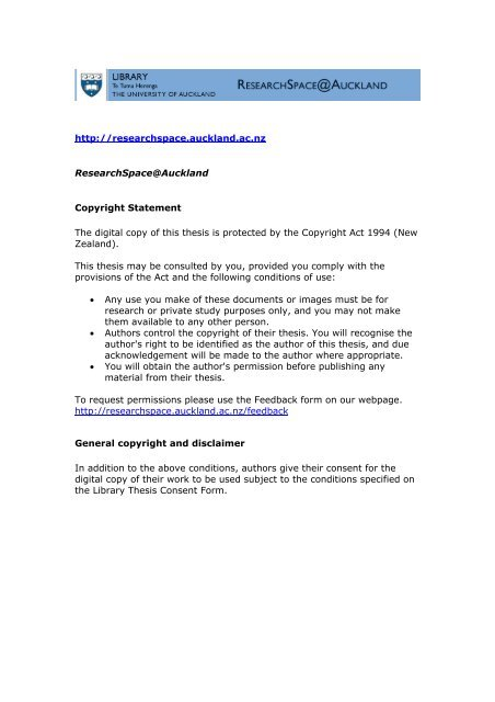 thesis consent form uoa
