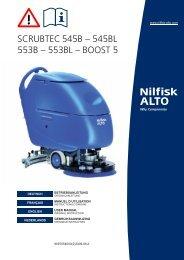 scrubtec 545b – 545bl 553b – 553bl – boost 5 - Nilfisk PARTS ...