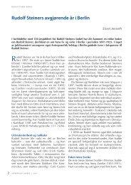 Rudolf Steiners vanskelige år i Berlin - Antroposofisk Selskap i Norge
