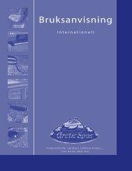 Bruksanvisning - Arctic Spas