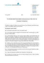Forretningsorden (standard) for kollegiale organer ved AAU