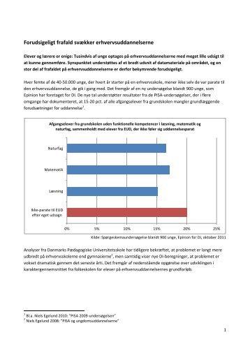 Forudsigeligt frafald svækker erhvervsuddannelserne - DI