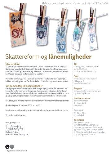 Skattereform og lånemuligheder - DI