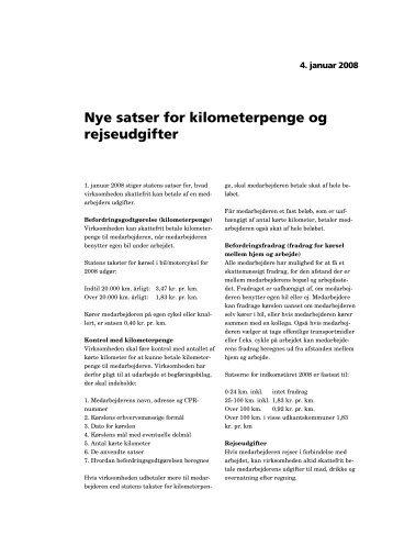 040108 Nye satter for kilometerpenge og rejseudgifter - DI