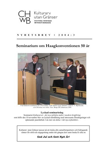 nyhetsbrev 3 2004 - Kulturarv utan gränser