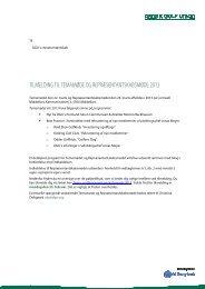 Orientering om tilmelding - Dansk Golf Union