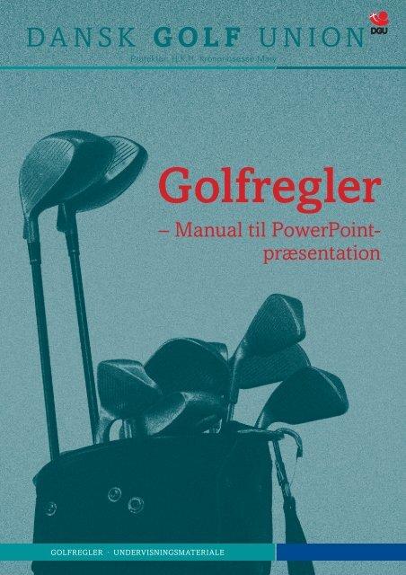 Instruktørhæfte - Dansk Golf Union