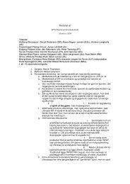 Referat af - Dansk Frisbee Sport Union