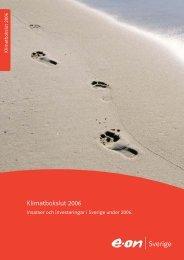 Klimatbokslut 2006 - E.ON