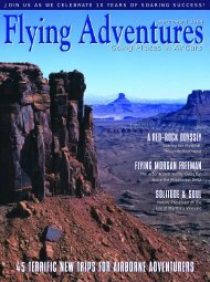 45 terrific new trips for airborne adventurers - Flying Adventures