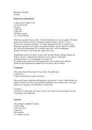 Opskrifter fra Ulrikkes kogebog - Bupl