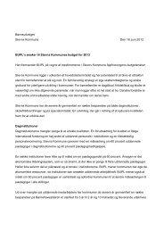 BUPLs ønsker til Stevns Kommunes budget for 2013