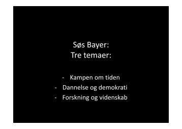 Søs Bayers slides - Bupl