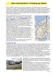 2011 Sommerferie i Frankrig og Italien - Campisternes Rejseportal