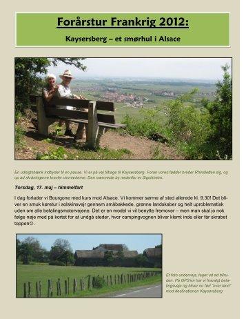 Forårstur til Alsace - Campisternes Rejseportal