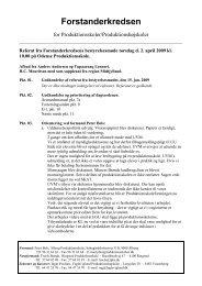 Referat d. 2. april 2009 - Forstanderkredsen