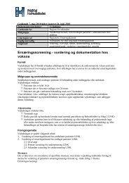 Ernæringsscreening - vurdering og dokumentation hos voksne