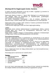 Afsnitsprofil for Dagkirurgisk Center, Horsens. - University College ...