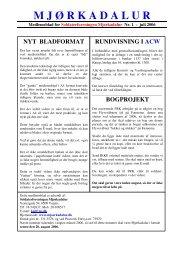medlemsblad nr. 1 - juli 2006 - Soldaterforeningen Mjørkadalur