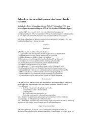 Bekendtgørelse om sejlads gennem visse broer i danske farvande