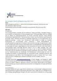 Beretning for Dansk Cytologiforening 2012-2013